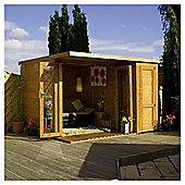 Mercia Large Combi Wooden Summerhouse, 12x8ft