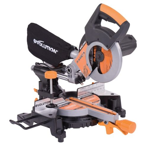 Evolution RAGE3-S Multipurpose Sliding Mitre Saw (Orange)