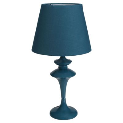 Tesco Lighting Funky Spindle Table Lamp, Teal