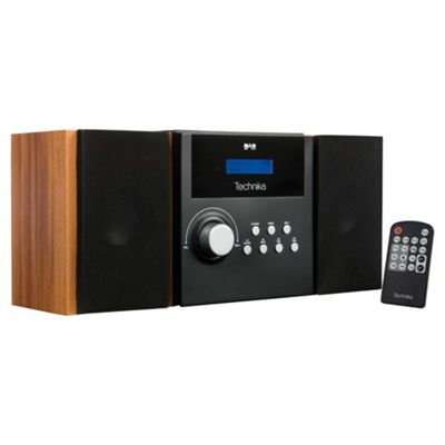 buy technika mc1103db dab cd dual alarm and hifi black from our clock radio range tesco. Black Bedroom Furniture Sets. Home Design Ideas