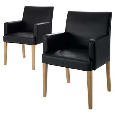Banbury Carver Pair Of Chairs, Dark Brown