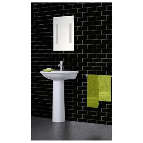 Arthouse Romano brick black wallpaper