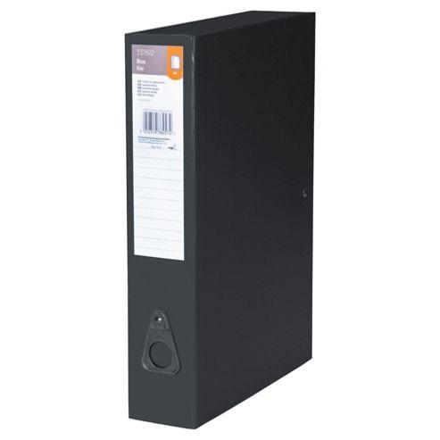 Tesco Foolscap Box File, 5 Pack, Black
