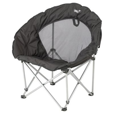 Gelert Caldera Moon Camping Chair, Black