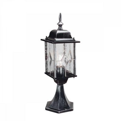 Black Silver Pedestal Lantern - 1 x 100W E27