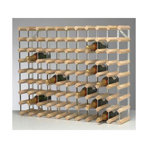 George Wilkinson 90 Bottle Wine rack Kit - Pine / Galvanised Steel