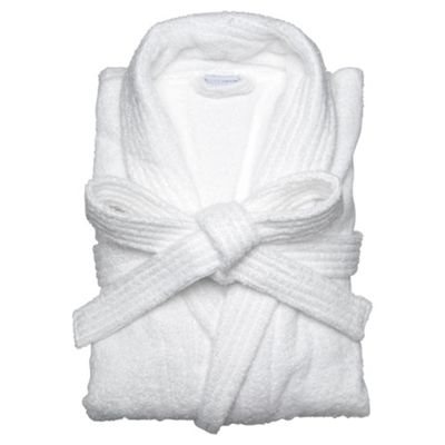 Buy Finest Towelling Robe White Sm From Our Bathrobes Range Tesco