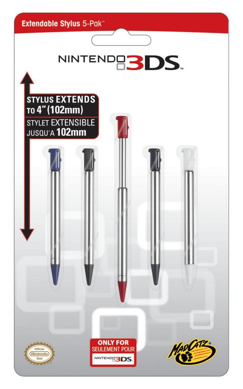 3DS - Extendable Stylus Pack (5)