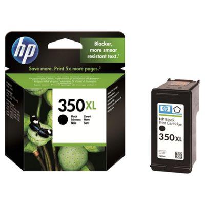 HP 350XL High Yield Black Original Printer Ink Cartridge