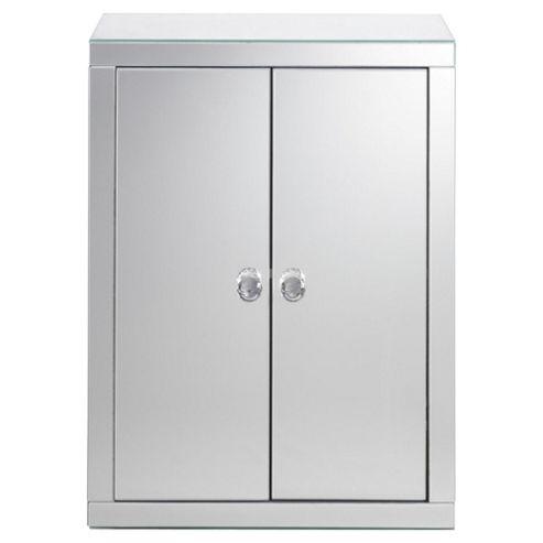 Tesco Mirrored Double Door Cabinet