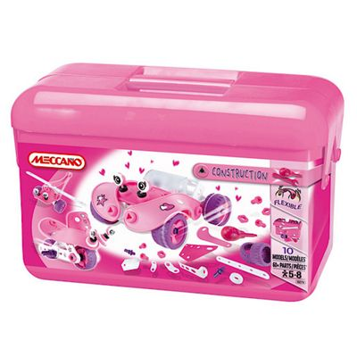 Meccano Construction Girls Tool Box Pink