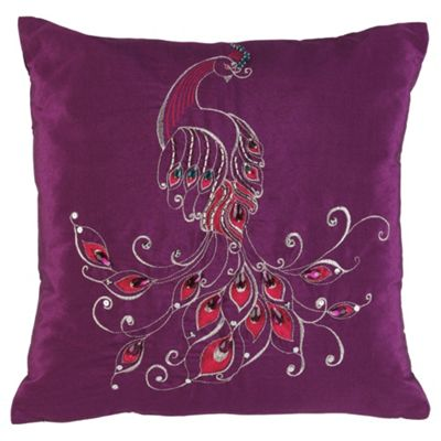 F&F home PEACOCK Cushion - Purple