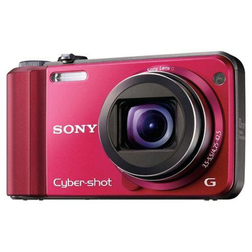 Sony DSCH70R Cyber-shot Digital Still Camera - Red (16.1MP, 10x Optical Zoom) 3 inch LCD