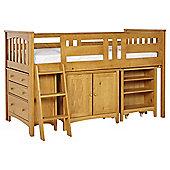 Harvey Sleep Station Left Hand Ladder, Natural Pine/Oak Stain