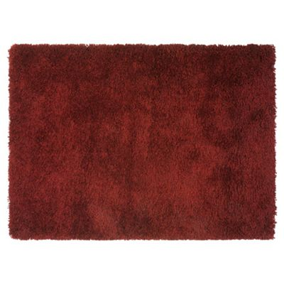 Tesco Rugs Extra Thick Shaggy 160X230cm Red