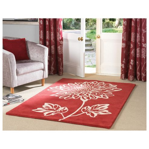 Tesco Rugs ava floral rug 150x240cm red