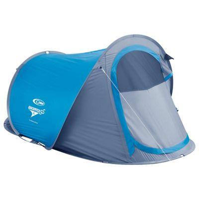 Gelert Quickpitch SS XL 3-Man Dome Tent, Blue