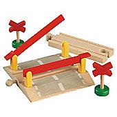 Brio Classic Accessory Railway Crossing, wooden toy