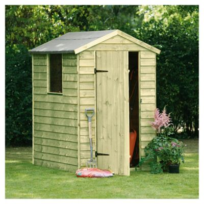Timberdale Overlap Pressure Treated Wooden Shed, 6x4ft