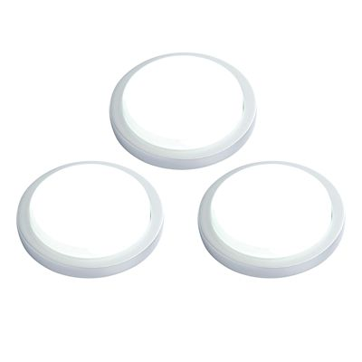 Santo Round Kit 1.5W Cool White Cabinet Light Silver Abs Plastic