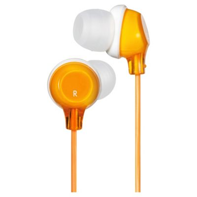 JVC Clear Colour Stereo Headphones Orange HAFX22D