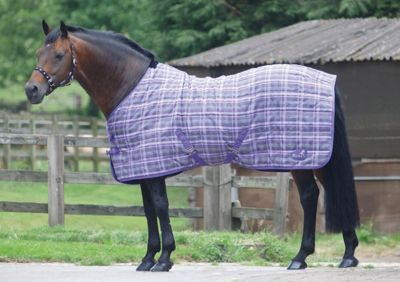 Masta PP Check Light Stable Rug Purple Check 7ft3