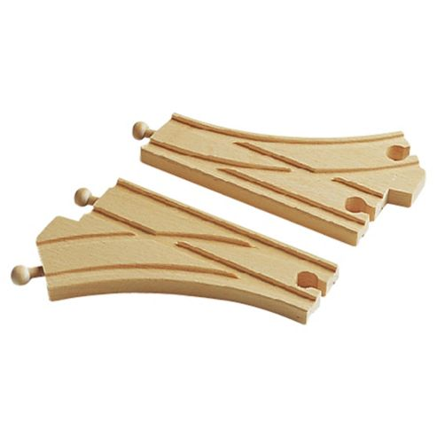 Brio Classic Accessory Curved Switching Tracks, wooden toy