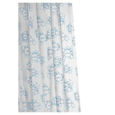 Croydex Anti-Bac Vinyl Shower Curtain Soap Suds