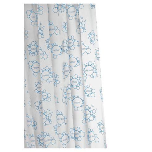Croydex Anti-Bac Vinyl Shower Curtain Soap Suds
