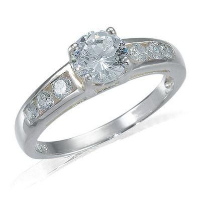 Sterling Silver Pearl & Cubic Zirconia Bridal Set, O