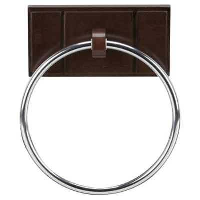 Croydex Towel Ring Dark Wood