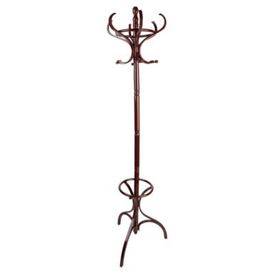 Traditional Bentwood Coat Stand Dark Wood