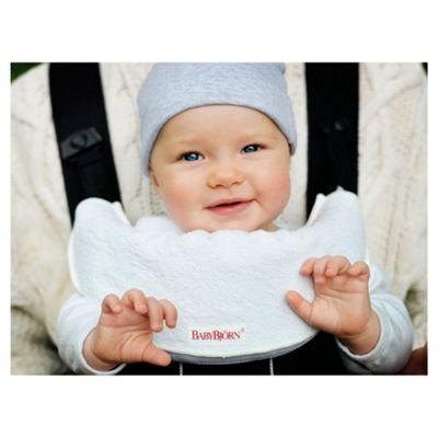 BABYBJORN Bib for Baby Carrier, White, 2-pcs