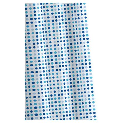 Croydex Textile Shower Curtain Micro Dots