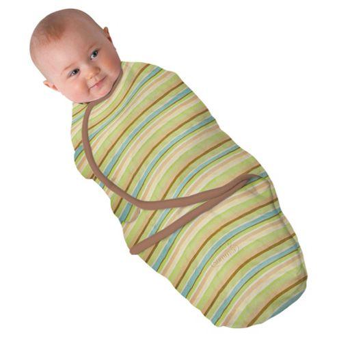 Summer Infant Swaddleme Single Pack Wavy Stripe, Natural