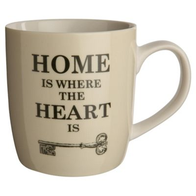 Tesco Home is Where the Heart is Set of 4 Mugs