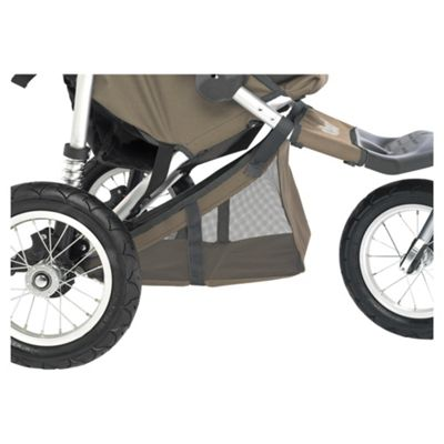 Out 'n' About Double Storage Pushchair Basket 360, Camel
