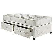 Hush Charleston Single Divan Bed with 2 Drawers, Luxury Pocket