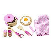 Viga Wooden Pink Cooking Utensils