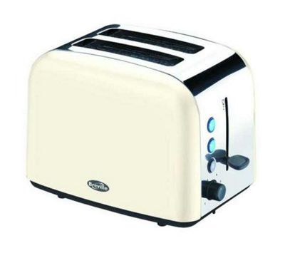 Breville VTT132 2 Slice Stainless Steel Toaster - Cream