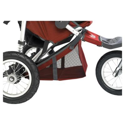Out 'n' About Double Storage Pushchair Basket 360, Red