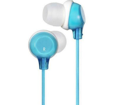 JVC Clear Colour Stereo Headphones Blue HAFX22A