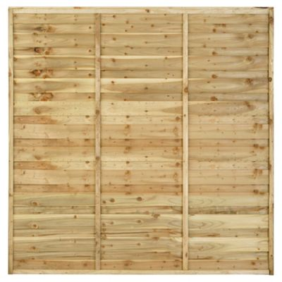 Timberdale 6x6 Sutton 5 Panel Pack with Posts and Fixing Brackets
