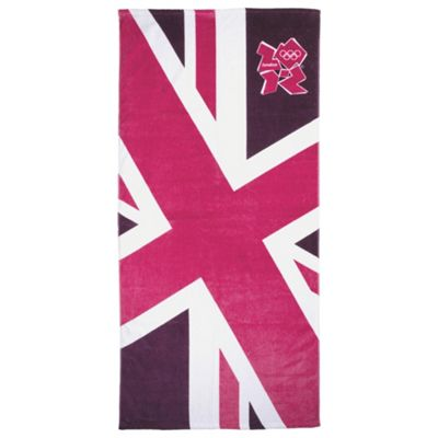 Union Jack Beach Towel, Pink
