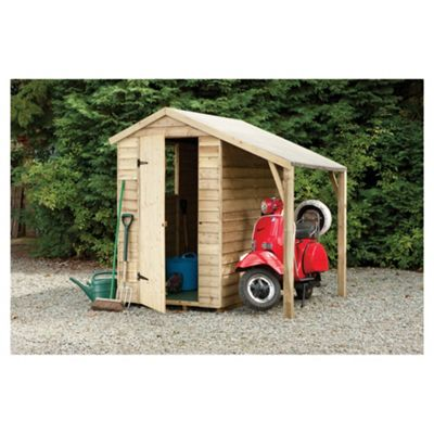 Timberdale Overlap Pressure Treated Shed with Lean-To