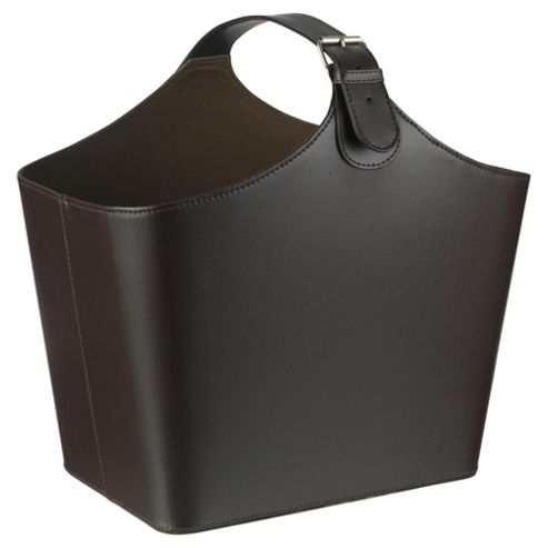 Tesco Leather Effect Magazine Holder with Buckle