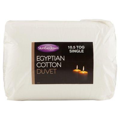 Slumberdown Egyptian Cotton Single Duvet 10.5 Tog