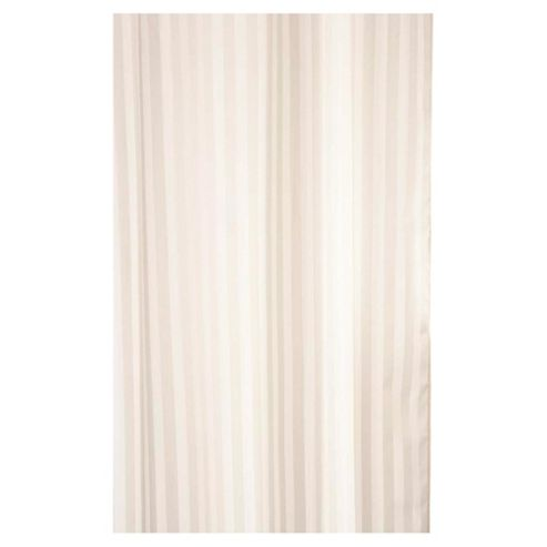 Croydex Textile Shower Curtain woven Stripe Ivory