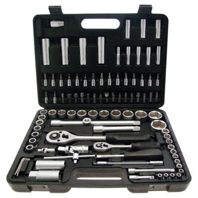 Am-Tech 0.25/ 0.5-inch Drive Socket Set (94 Pieces )