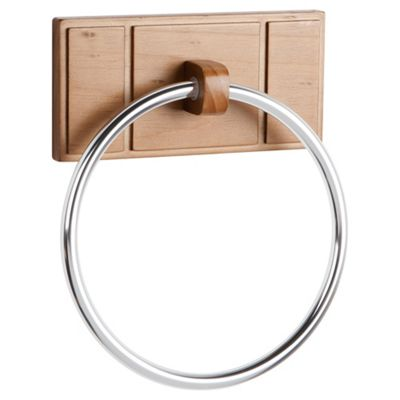 Croydex Towel Ring Beech